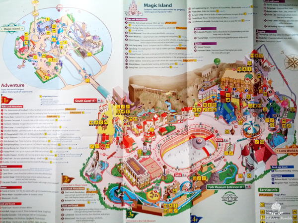 Lotte world the mini disneyland of seoul the hidden thimble lotte worlds map gumiabroncs Images
